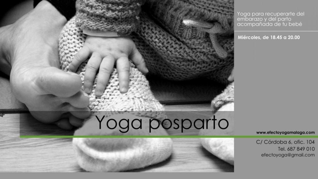 Yoga posparto - Efecto Yoga Málaga
